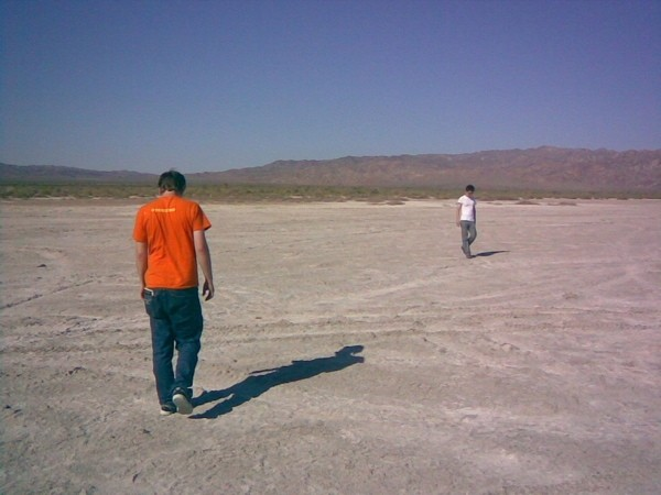 Two guys get lost in the desert.