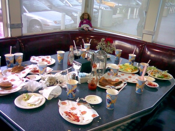 Aftermath of a childrens' birthday party.