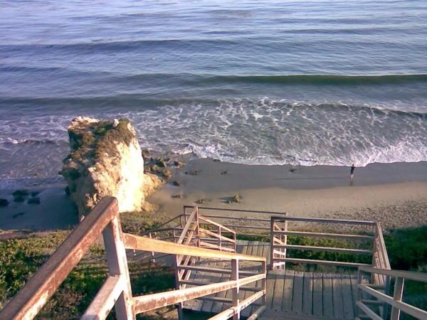 Beach access, near Malibu.