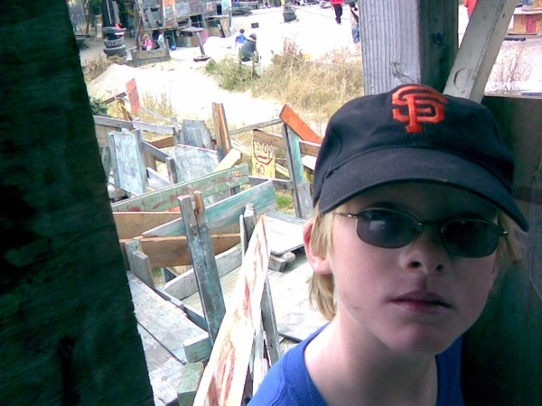 Matthew at the Adventureland Playground, Berkeley.