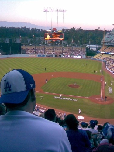 Sundown, Dodger Stadium, from section  9RS.