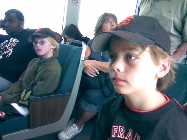 Riding BART to eternity.