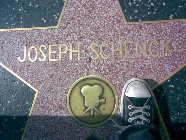 Joseph Schenck's star on the Walk of Fame.
