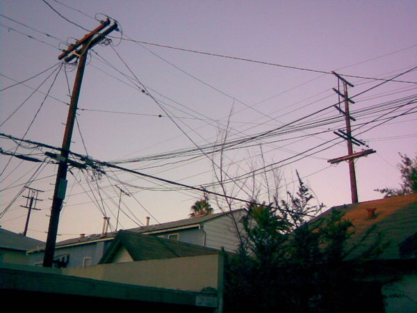 Wires crossed in my backyard, Hollywood.