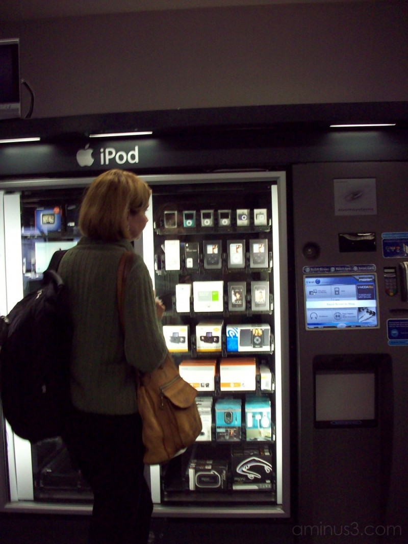ONLY IN AMERICA II- iPod vending?