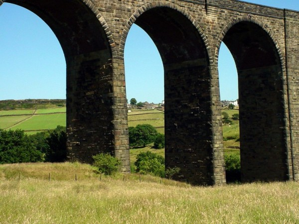 arches beneath an abandoned railway bridge