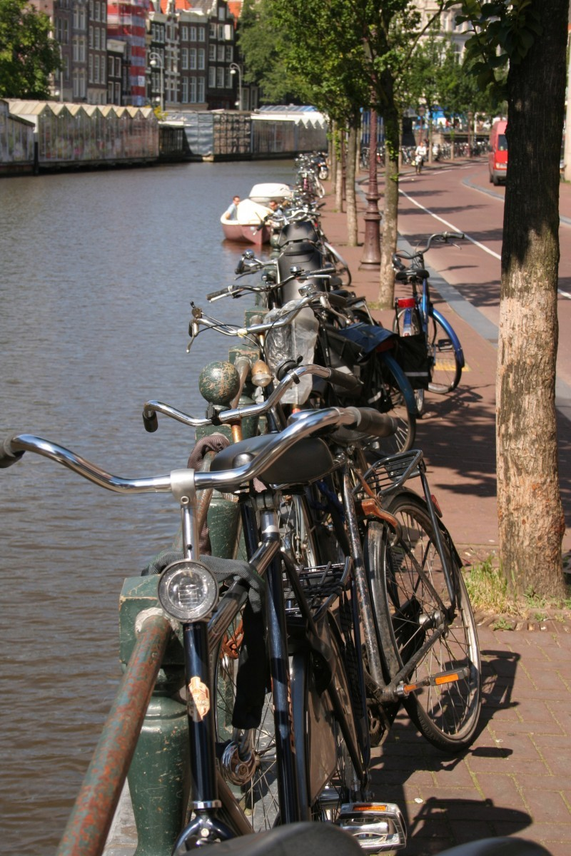 Bicycles by the Amsterdam channels