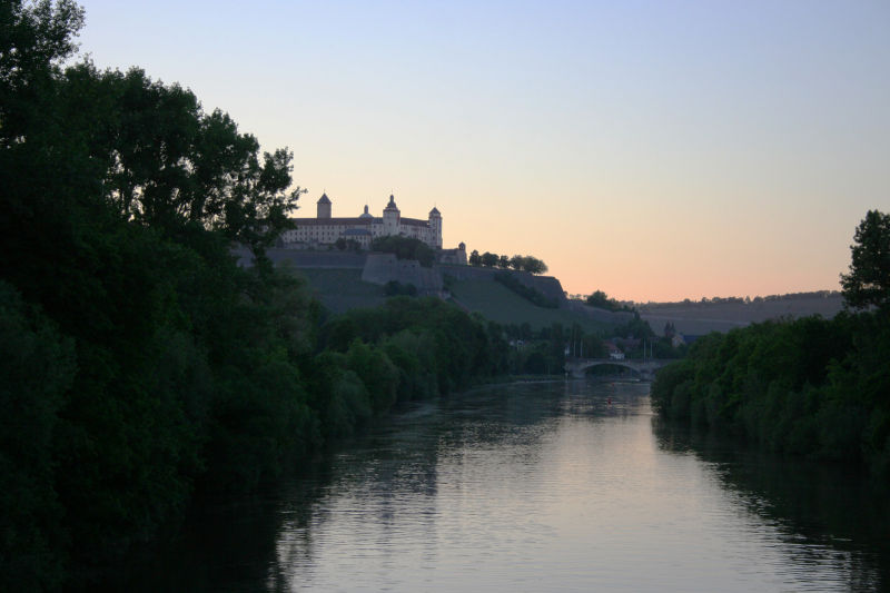 Würzburg view of the river and the fortress
