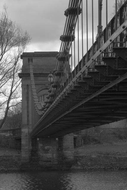 Suspension foot bridge