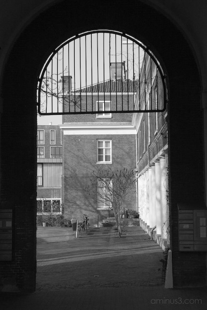 View through the arch way