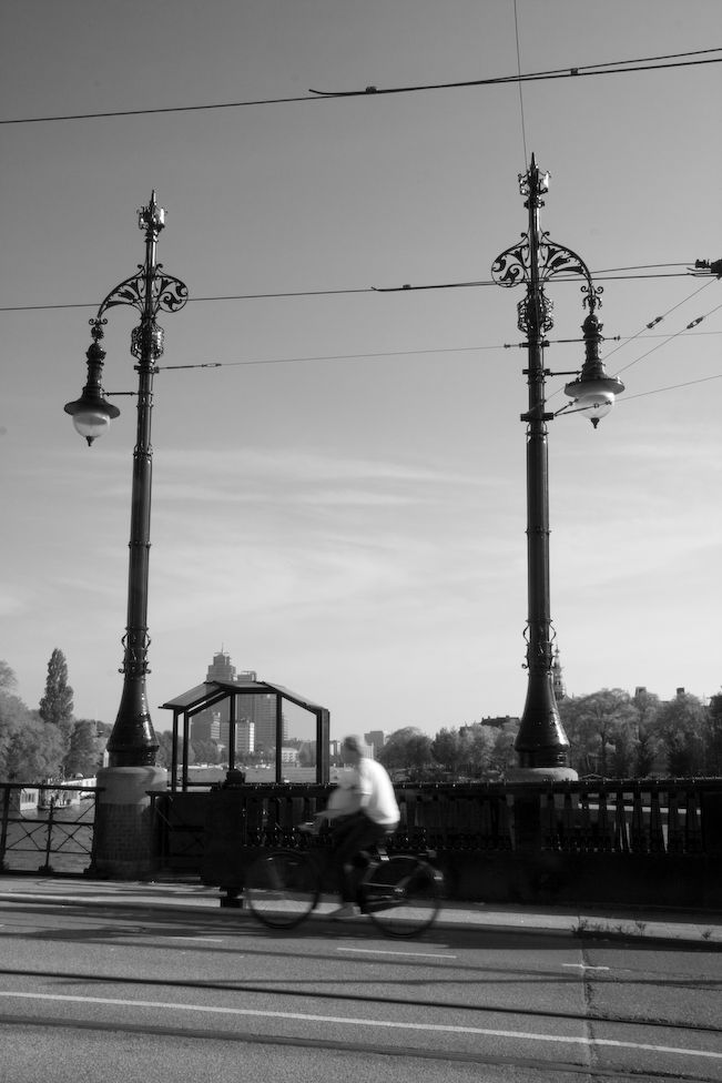lamps posts on an Amsterdam bridge