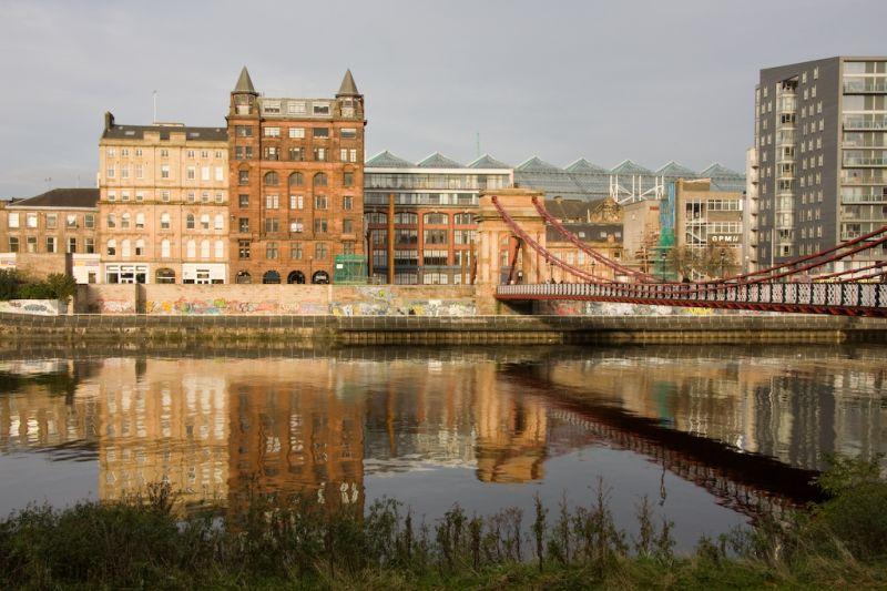 River clyde in Glasgow Scotland