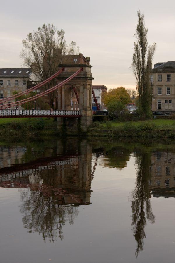 Glasgow Footbridge reflection