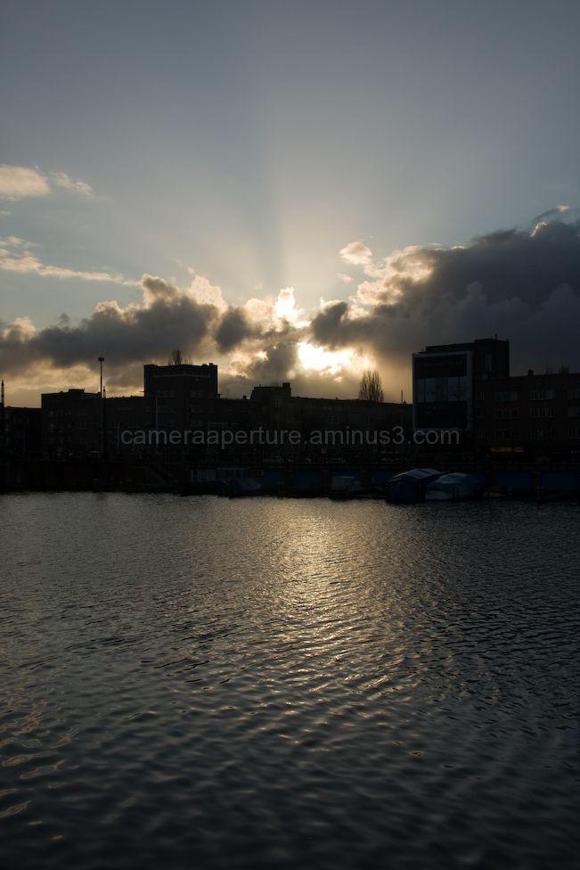 Winter sunset in Amsterdam