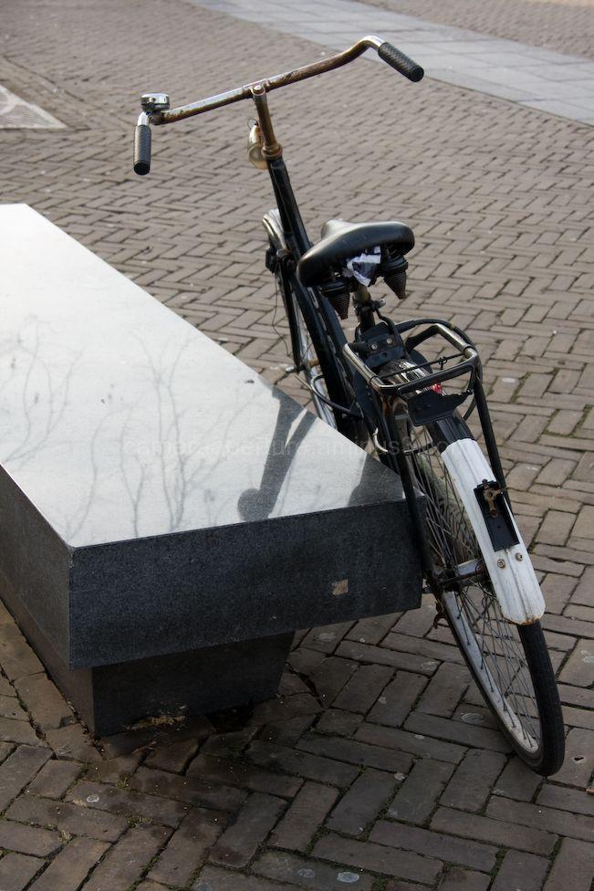 Bike, and stone seat