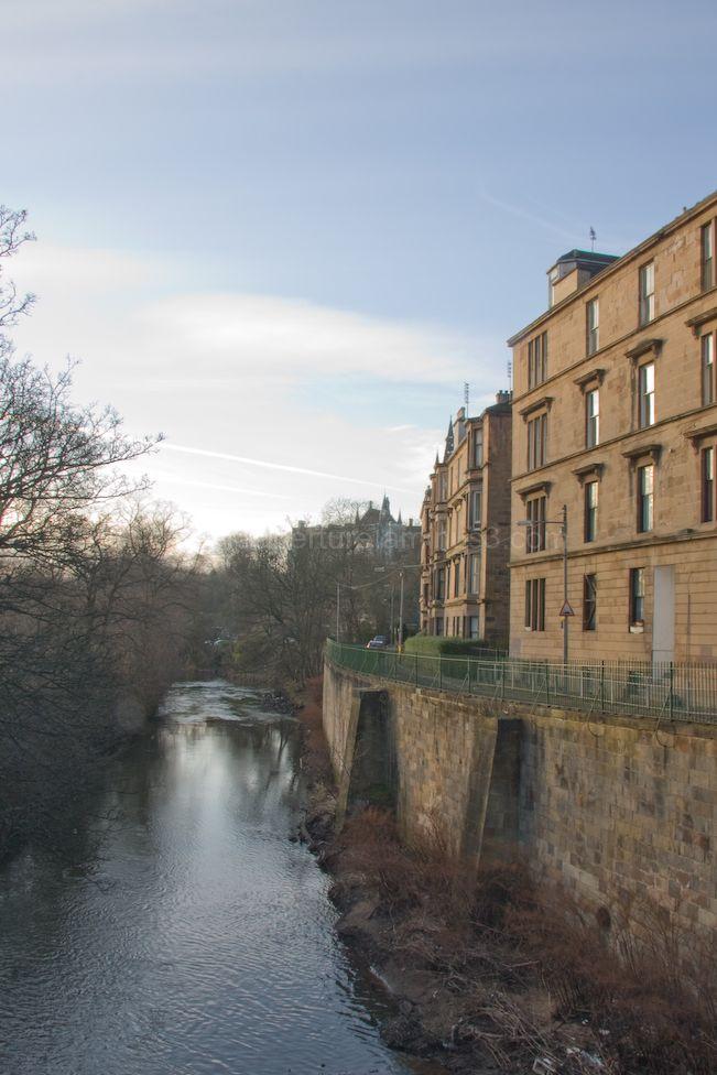 The River kelvin in Glasgow