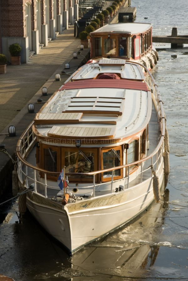 The boat  on the amstel river