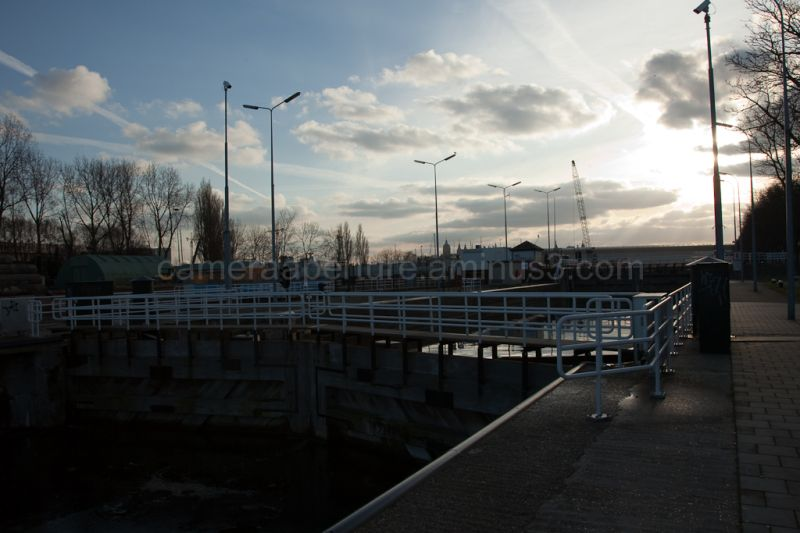 Canal Lock in north amsterdam