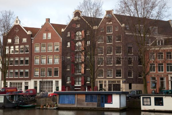 Canal houses in the city of Amsterdam