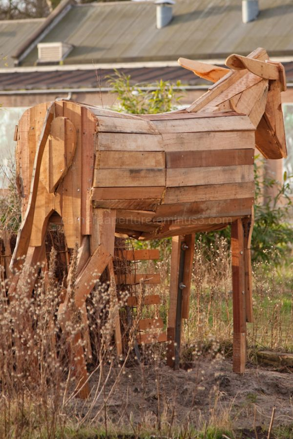 wooden horse in Amsterdam
