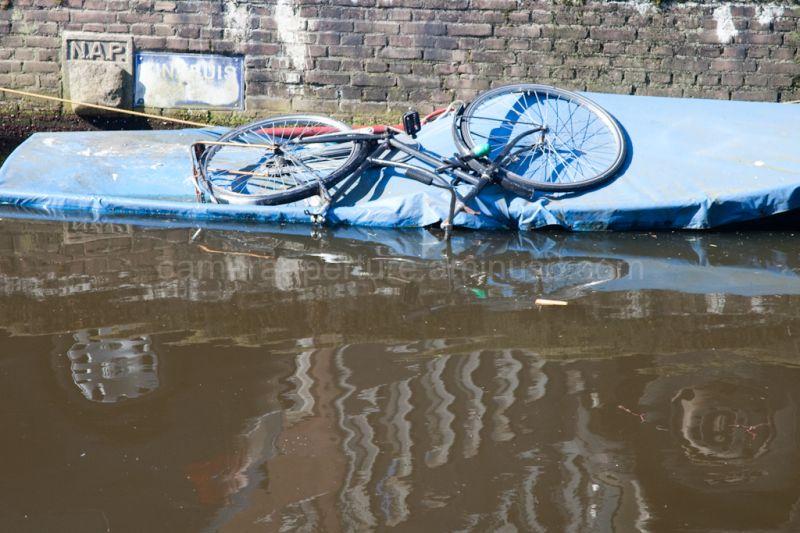 Bike on a boat