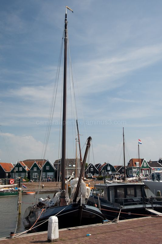 Tha sail boat in Marken the Netherlands