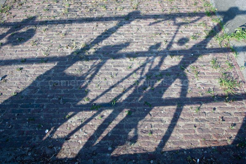 Bike shadows on the ground