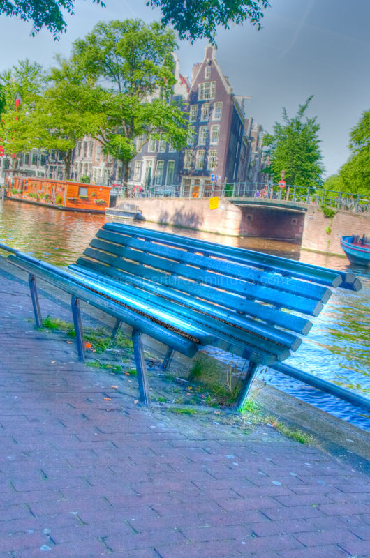 Bench beside the canal
