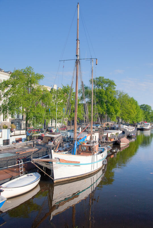 Sail boat on the Amstel river