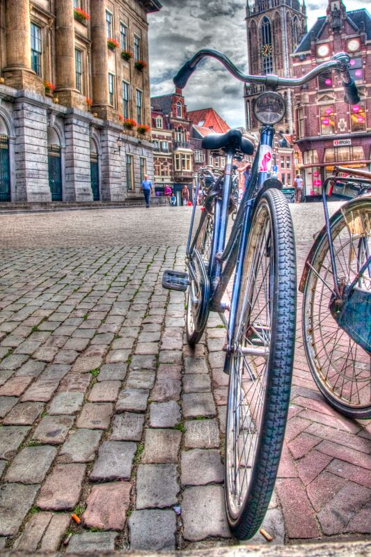 Bike in the square