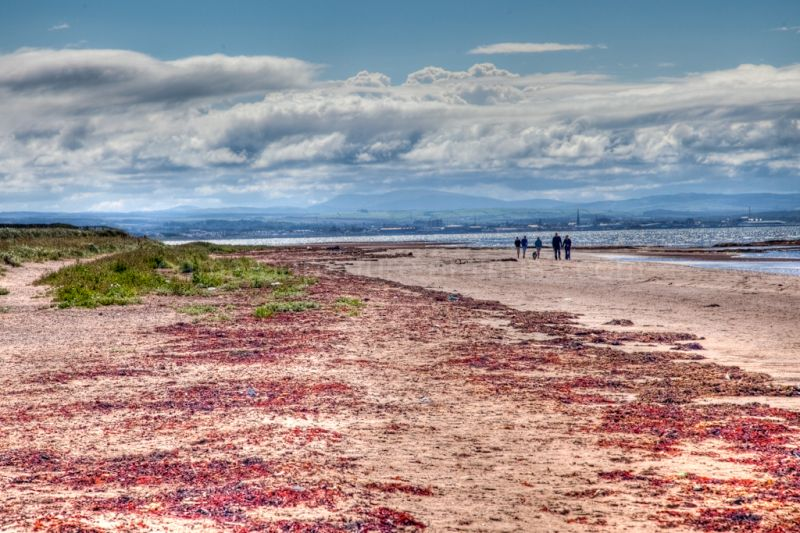 South Beach in Troon, on the Ayrshire coast