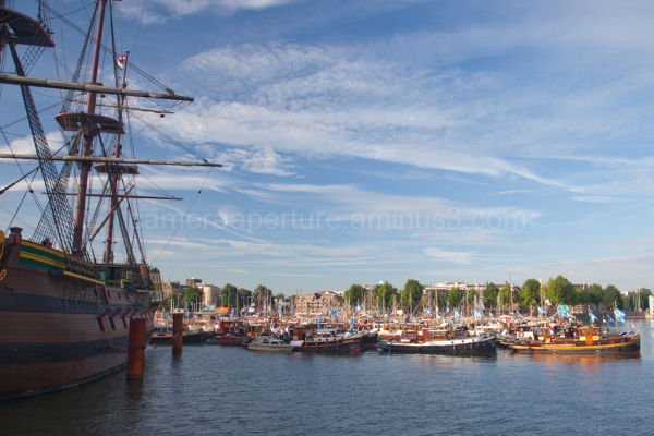 Ships on the water in Sail 2010 Amsterdam