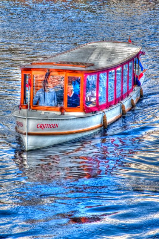 A Tourist boat on the river