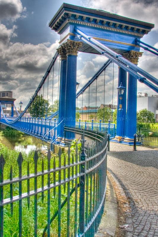 Footbridge in Glasgow green, in Glasgow