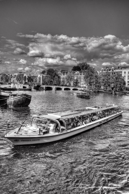The river amstel in Amsterdam