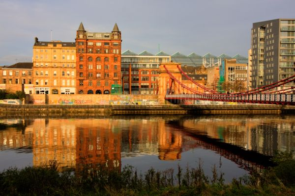 The river clyde in Glasgow Scotland