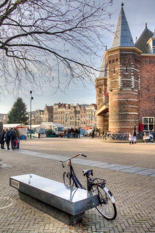 The nieuwmarkt in Amsterdam