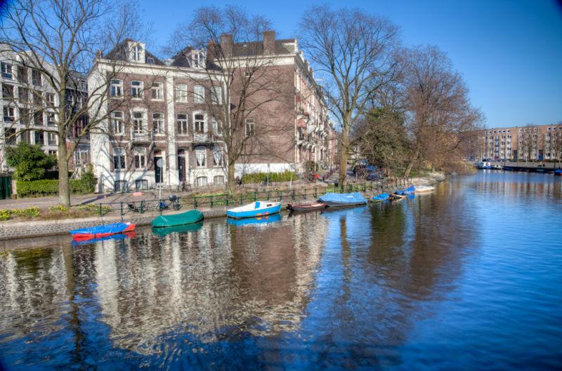 Huddekade in the city of Amsterdam