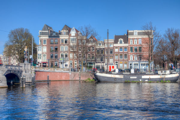 The Binnen Amstel river in the city of Amsterdam