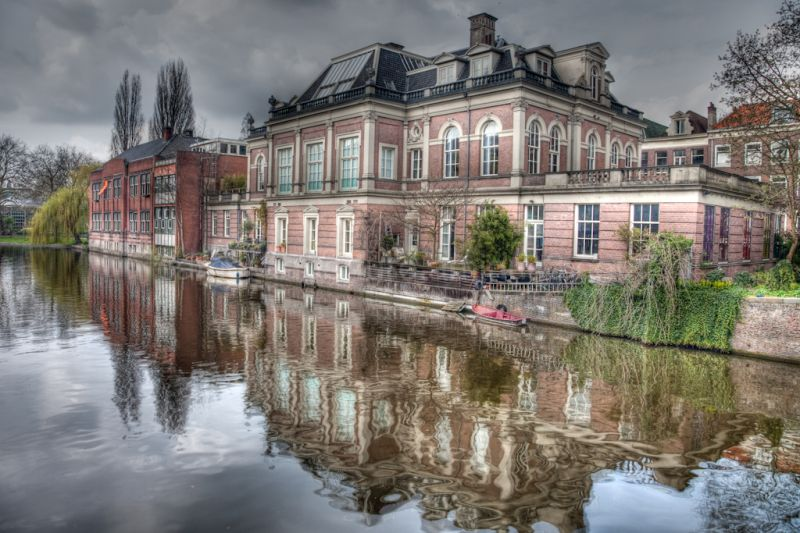 A view along an Amsterdam's canal