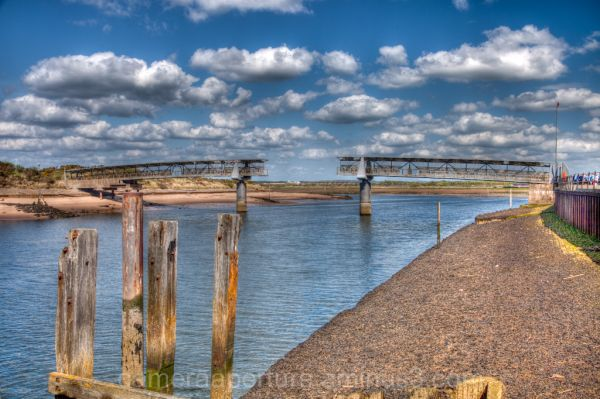 A disused bridge on the mouth of Irvine Harbour