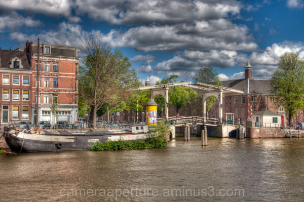 The River Amstel in the city of Amsterdam