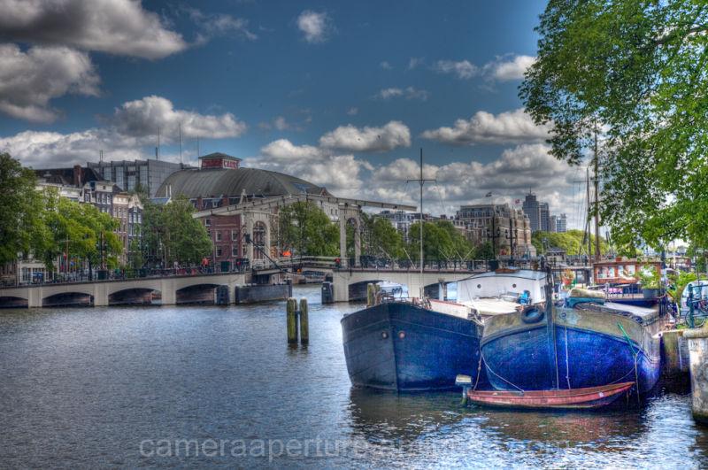 The skinny bridge in the city of Amsterdam