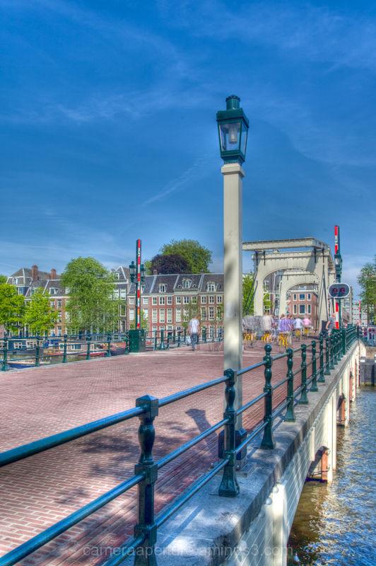 The skinny bridge over the river Amstel