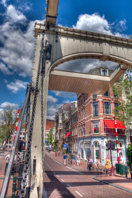 A swing bridge in Amsterdam