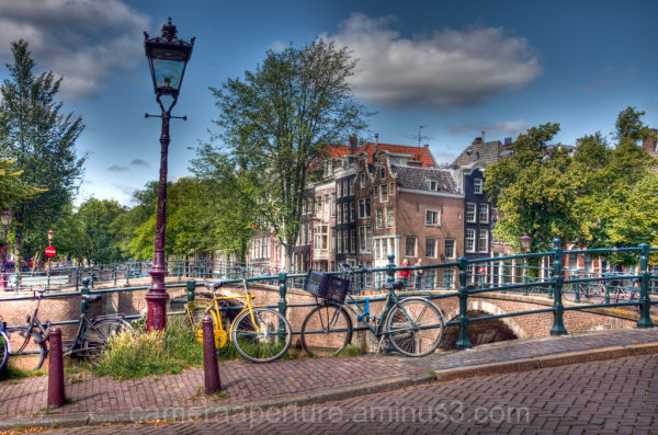 A canal in the centre of Amsterdam