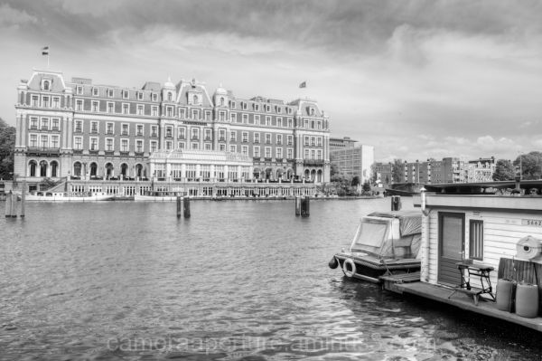 The Amstel Hotel on the river Amstel in Amsterdam