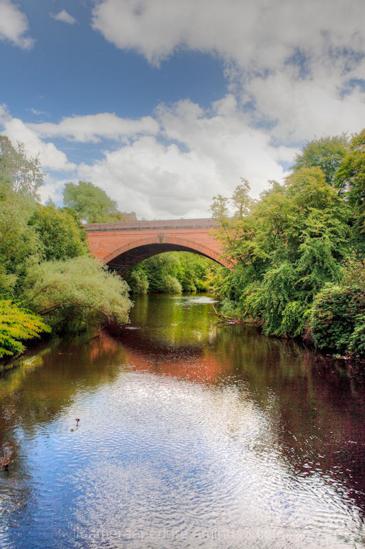 The River Kelvin in Glasgow Scotland