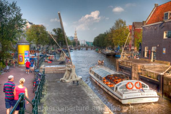 An Amsterdam canal lock