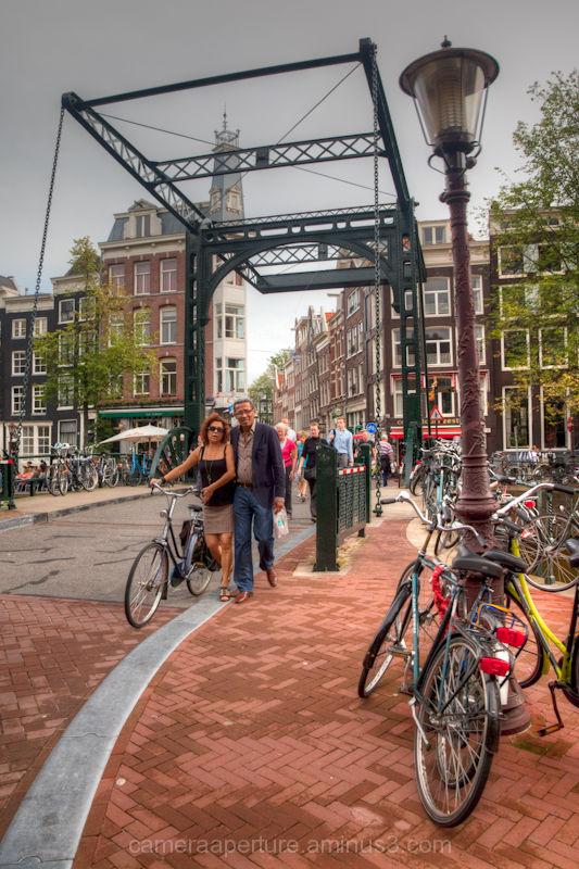 A swing bridge over an Amsterdam Canal